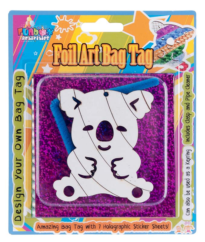 Amazing Koala Foil Art Bag Tag