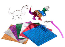 Load image into Gallery viewer, Amazing Dinosaur Foil Art Bag Tag