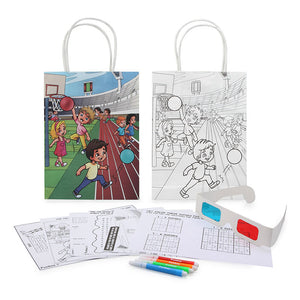 Sports Activity Bag with Activity Sheets, Markers and 3D Glasses
