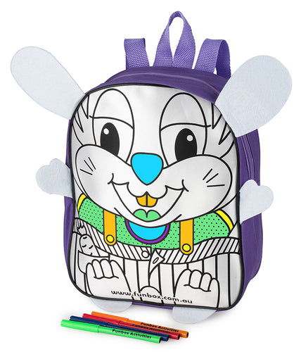 Colour Me In Bunny Backpack