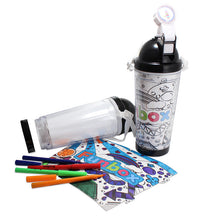 Load image into Gallery viewer, Kids Colour-Me-In Drink Bottle