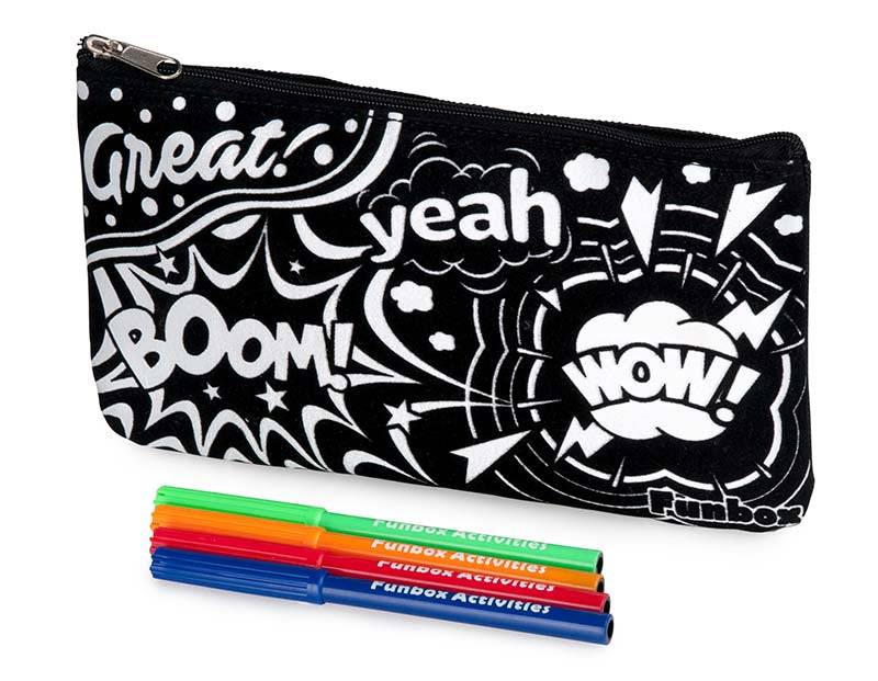 Velvet Art Pencil Case with Markers