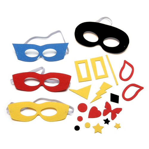 Superhero Felt Mask Kit