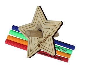 Wooden Star Spinning Top