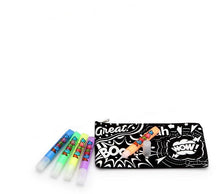Load image into Gallery viewer, Velvet Art Pencil Case with Markers