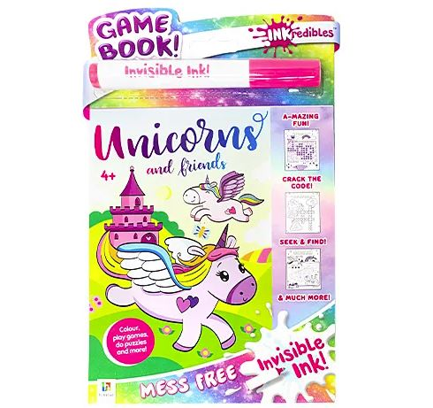 No Mess Invisible- Ink Activity Book- Unicorn
