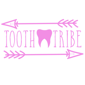 The Tooth Tribe Vinyl Transfer Decal 3.5 x 7""
