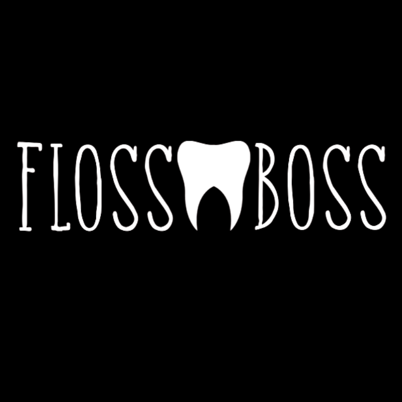 "Floss Boss Tooth Decal 6.5"" x 2"""