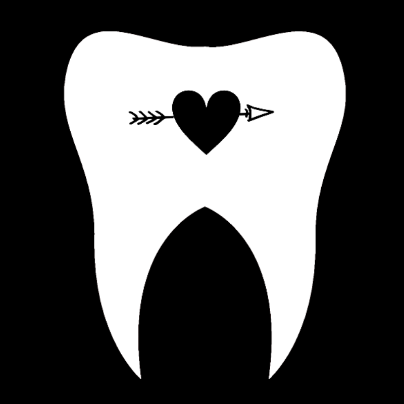 Tooth Tribe Tooth Vinyl Transfer Decal 3 x 4 ""