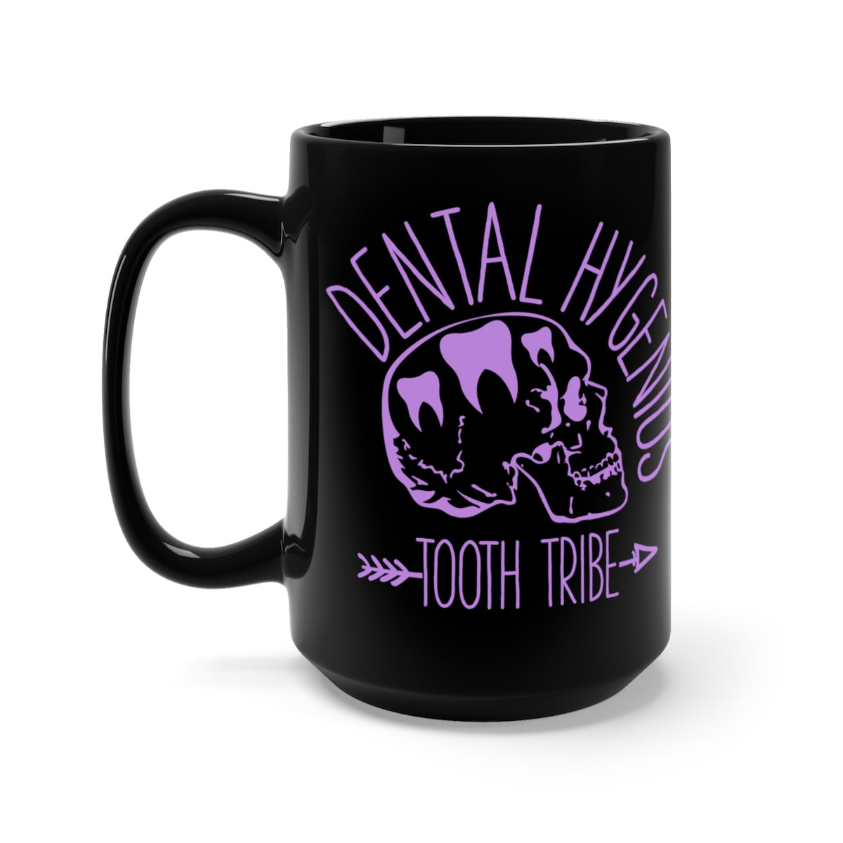 Dental Hygenius Tooth Tribe Black Mug 15oz