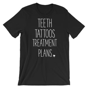 Teeth Tattoos Treatment Plans Short-Sleeve Unisex T-Shirt - Xs - T-Shirt Teeth-Tattoos-Treatment-Plans-Short-Sleeve-Unisex-T-Shirt