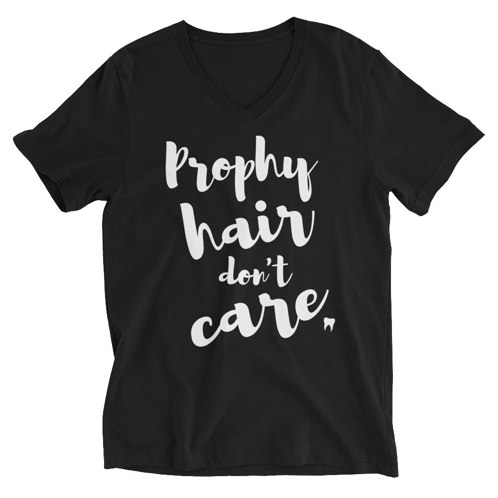 Prophy Hair Don't Care Short Sleeve V-Neck Jersey Tee