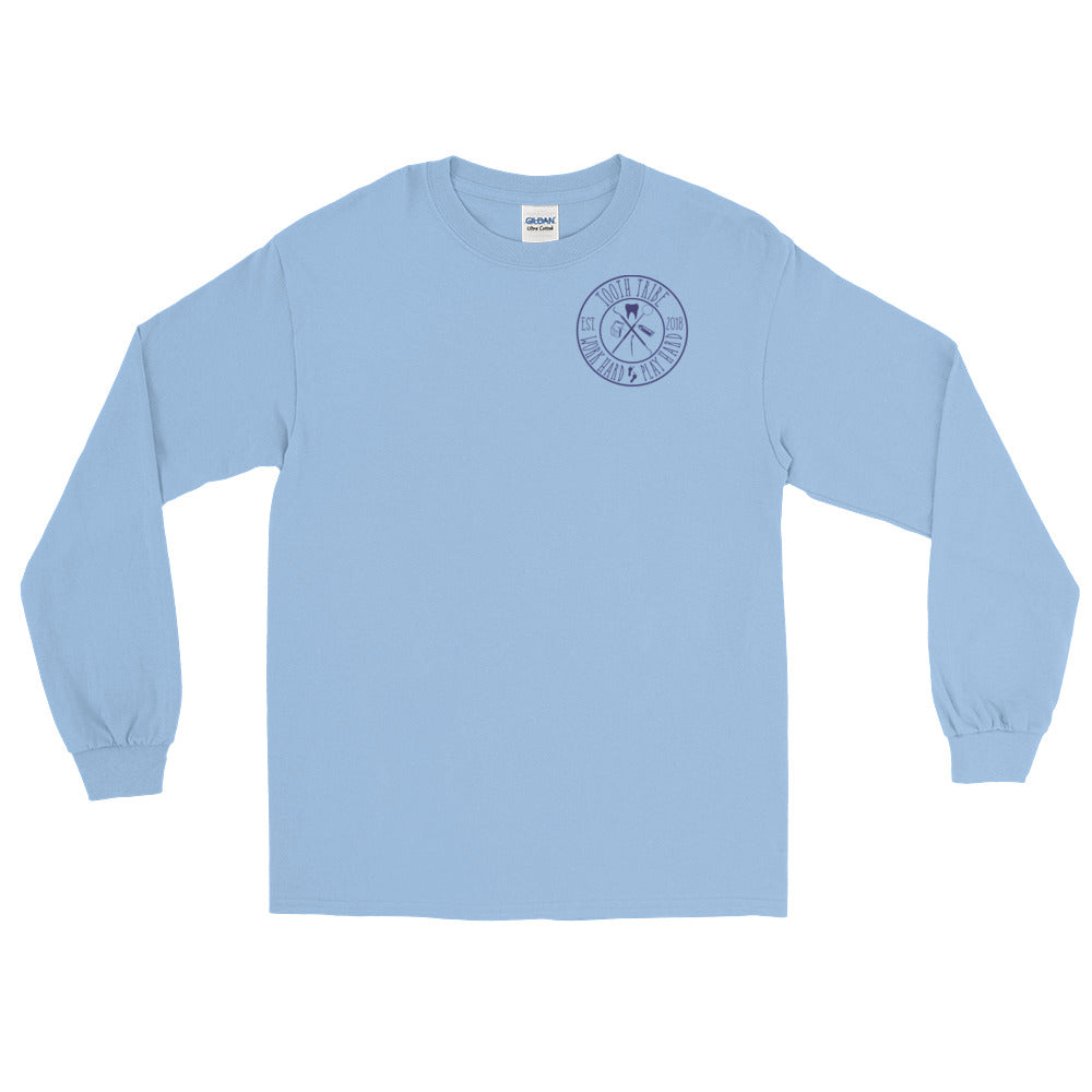 In Teeth We Trust Long Sleeve T-Shirt - Light Blue / S - Long Sleeve In-Teeth-We-Trust-Long-Sleeve-T-Shirt