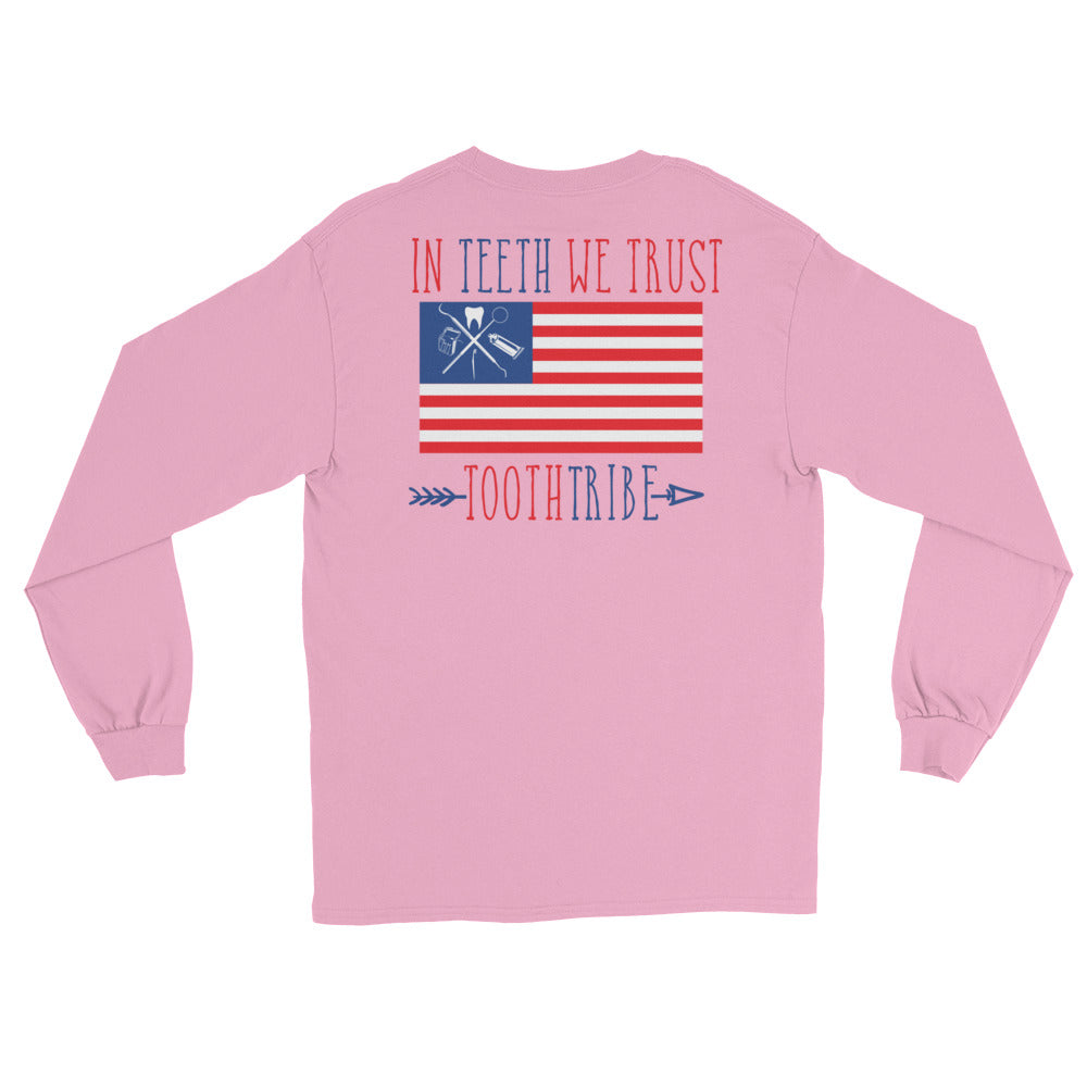 In Teeth We Trust Long Sleeve T-Shirt - Long Sleeve In-Teeth-We-Trust-Long-Sleeve-T-Shirt