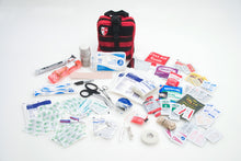 rugged care nylon first aid kit with trauma items