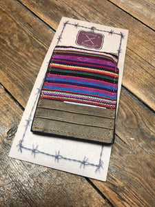 Leather and Serape Money Clip