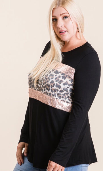 Jane Leopard Top Plus Size