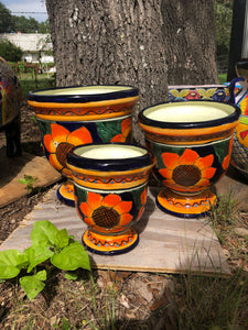 Talavera Sunflower Set (3)