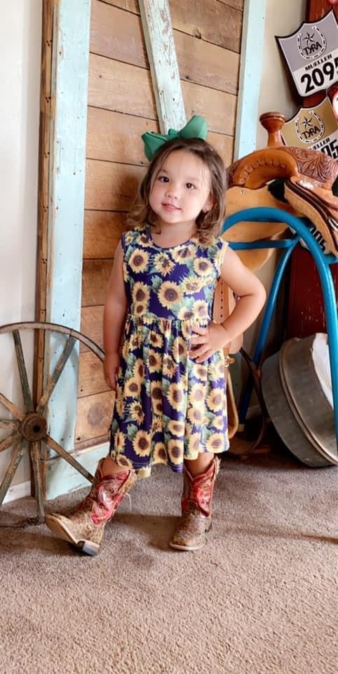 Sunflower Sleeveless Dress