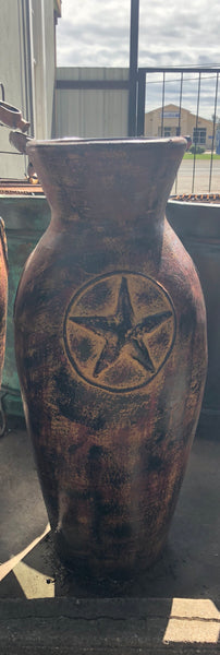 Large Clay Vases with Lone Star