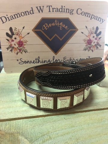 Twisted X Kids Belt - Square Conchos