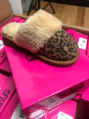 Kids Snooze Leopard Slipper