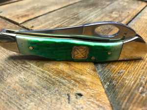 Green Pocket Knife with Clip