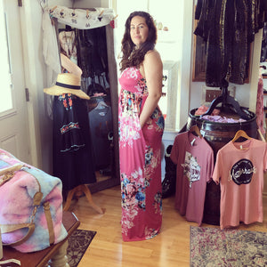 Floral Razor Back Maxi Dress Plus Size