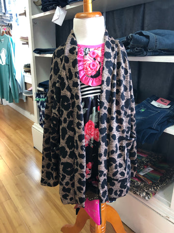 Girls Cheetah Cardigan