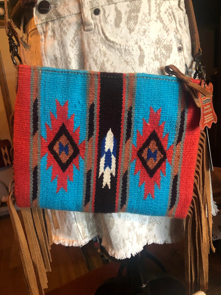 Small Saddle Blanket Cross body Purse