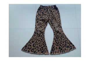 Leopard Denim Pants
