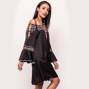 Onyx off the shoulder dress