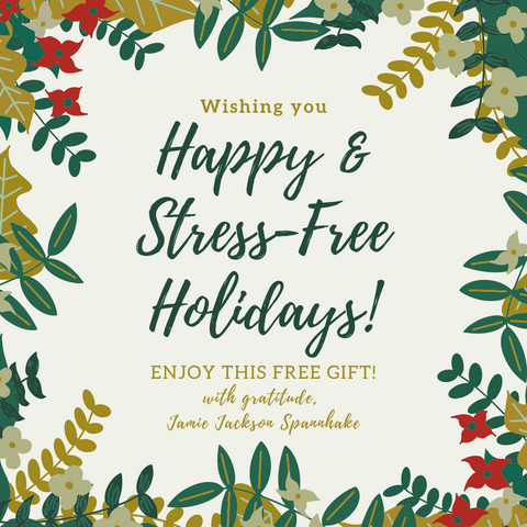 Happy & Stress-Free Holidays Image