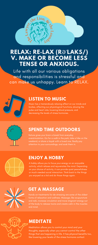 Relax for Healthy Body and Mind - Infographic
