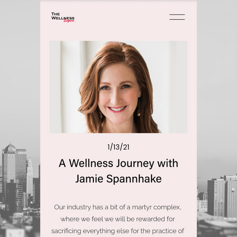 Screen shot of The Wellness Esquire Wellness Journey