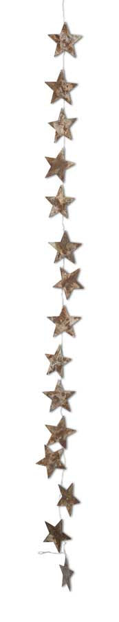Rustic Tin Star Garland (6 FT.)