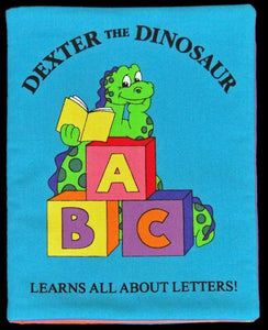 Dexter the Dinosaur - Hand Sewn Cloth Baby Book