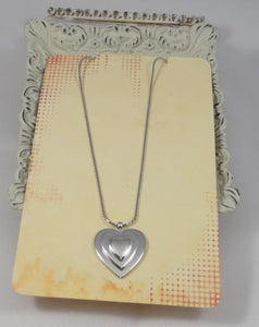 Sterling Silver Heart Pendant and Chain Necklace