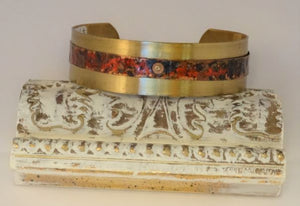 Red Patina Brass Cuff Bracelet