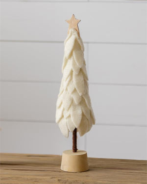White Wool Tree with Star - Large