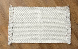 Placemats - Woven Cotton with Fringe - Pack of 4