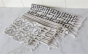 Tea Towels - Black and White Set of 3