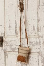 Crossbody Bag with Leather Accents
