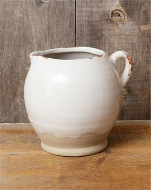 Earthenware Pitcher Wide Mouth