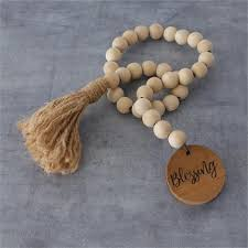 Farmhouse Beads - With Wood Blessing Tag