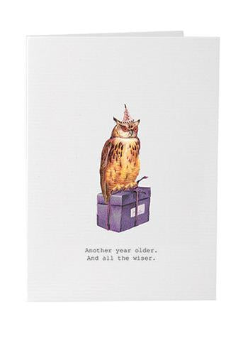 TokyoMilk Card - Another Year Older (Owl)