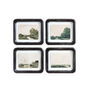 Floating Landscape Glass Framed Wall Decor