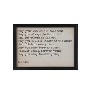 """May Your Wishes All Come True"" Wood Framed Wall Decor DF0256"