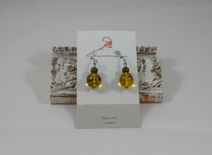 Silverfill Earrings - Vintage Glass Beads & Gemstone