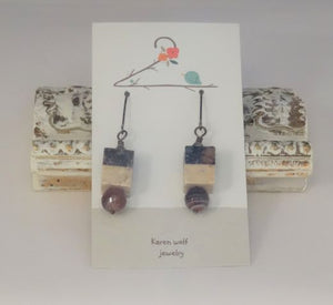 Agate Gemstone Silverfill Earrings